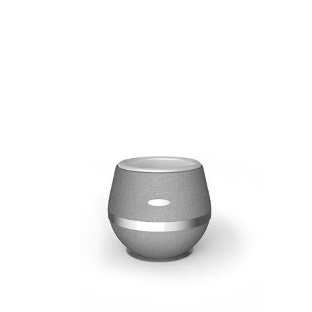 Design Vase Arundo aus Gummigranulat mit Edelstahlring in 500mm Höhe