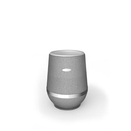 Design Vase Arundo aus Gummigranulat mit Edelstahlring in 750mm Höhe