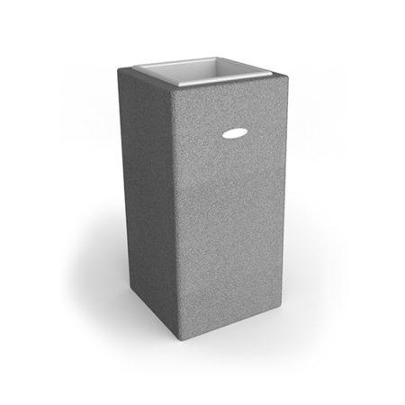 Linea Design Vase aus grauem Gummigranulat mit einer Höhe von 1000mm