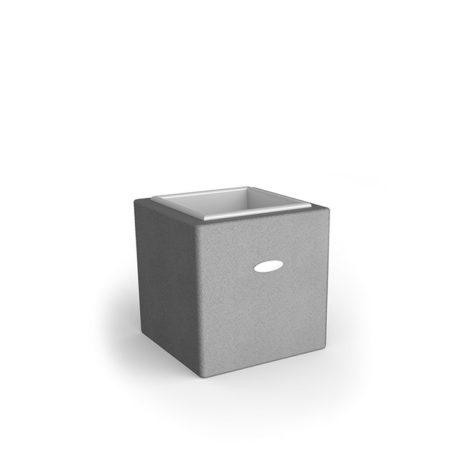 Linea Design Vase aus grauem Gummigranulat mit einer Höhe von 500mm