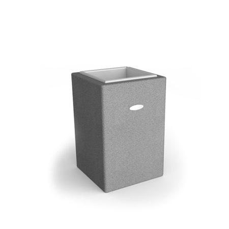 Linea Design Vase aus grauem Gummigranulat mit einer Höhe von 750mm