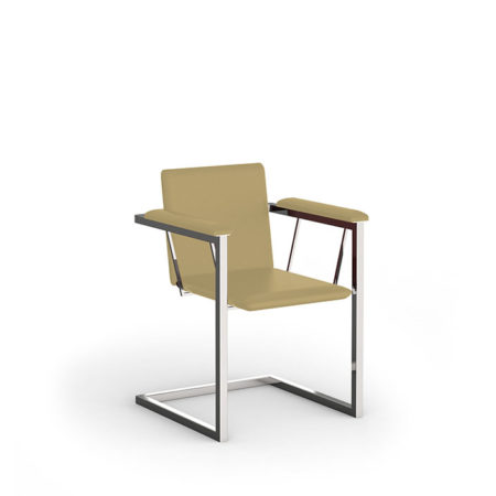 Gartenstuhl Amicus mit beigem Sitzpolster