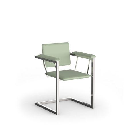 Gartenstuhl Amicus mit hellgrünem Sitzpolster