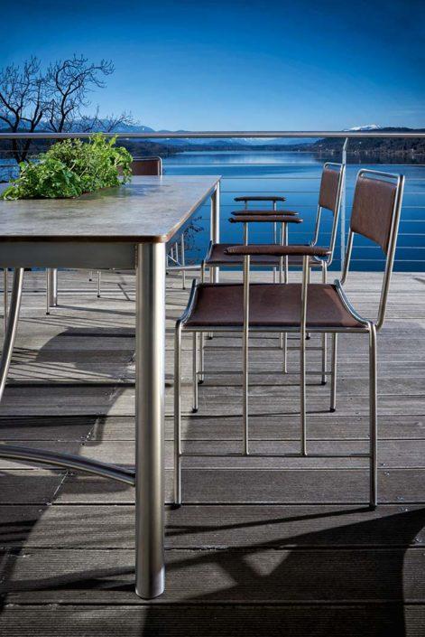Gartenstuhl Corio und Tisch Cena