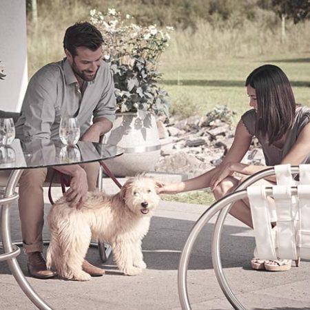 Design-Gartenstuhl Niva mit Tisch