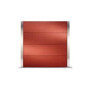 Illustration der roten Schallschutzwand Sonito