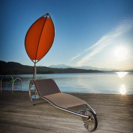Sonnenschutz/Schattierung Silva vor Liege Lignum am Wasser
