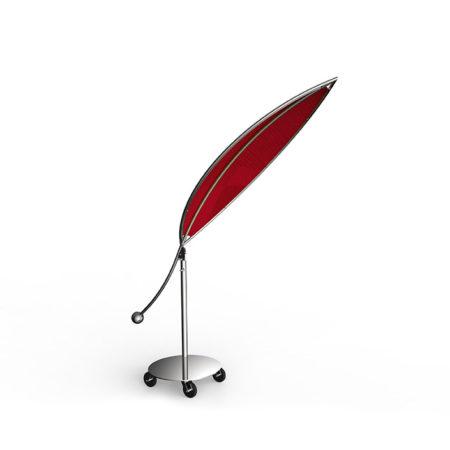Sonnenschutz Silva in rot aus Edelstahl mit Rollen